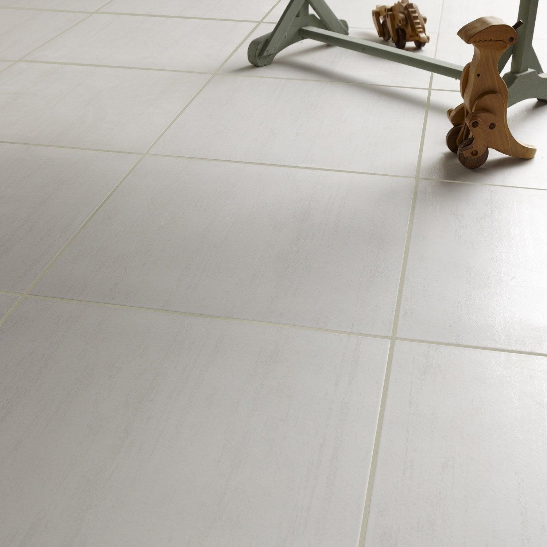Carrelage Sol Et Mur Blanc Effet Béton Eiffel L45 X L45 Cm Leroy