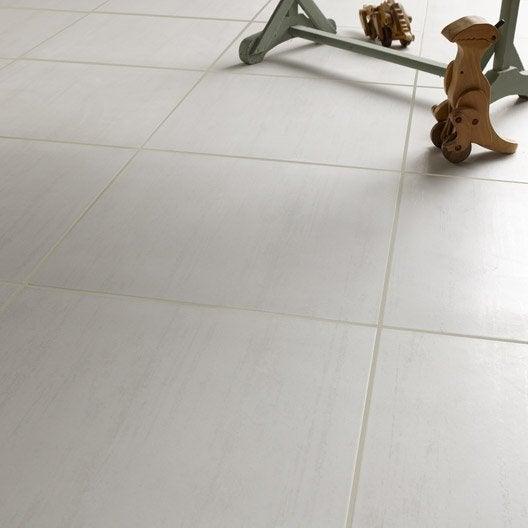 Carrelage sol et mur blanc effet b ton eiffel x - Carrelage gris mur blanc ...