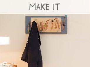 Diy r aliser un portant pour les v tements leroy merlin - Fabriquer porte manteau mural ...