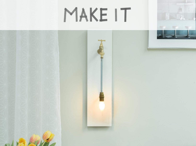 DIY : Réaliser une applique à partir d'un robinet