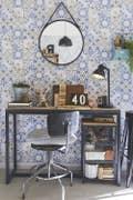 Bureau Bleu Noir Industriel / Loft