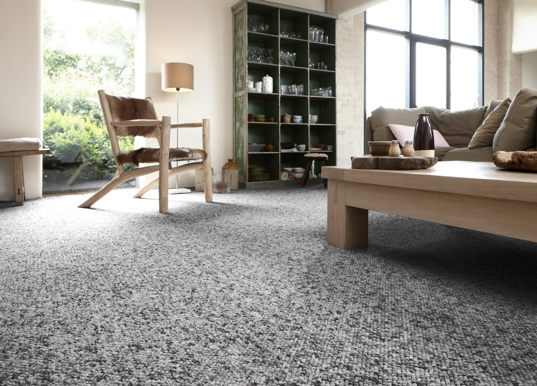 une moquette boucl e grise pour un salon chaleureux leroy merlin. Black Bedroom Furniture Sets. Home Design Ideas