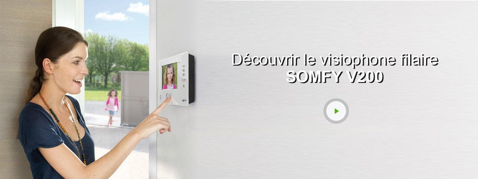 ecran suppl mentaire filaire somfy v200 noir leroy merlin. Black Bedroom Furniture Sets. Home Design Ideas