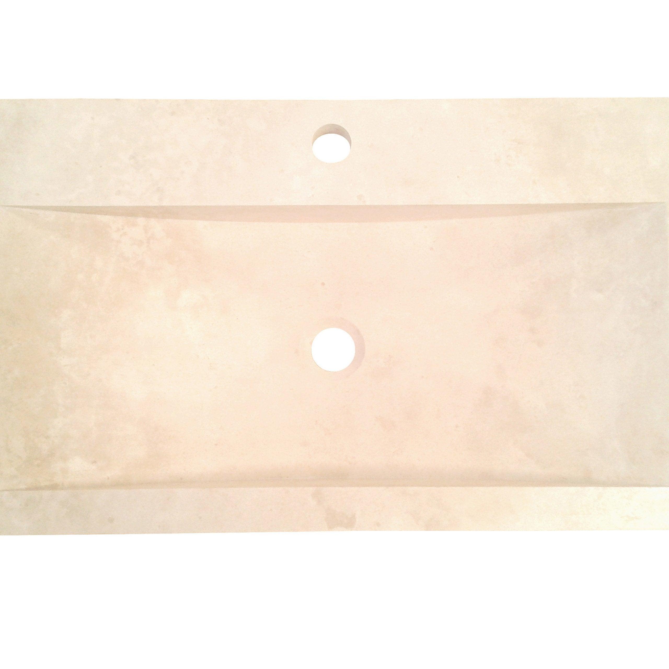 Vasque à poser travertin l.70 x P.40 cm beige / naturel Edith