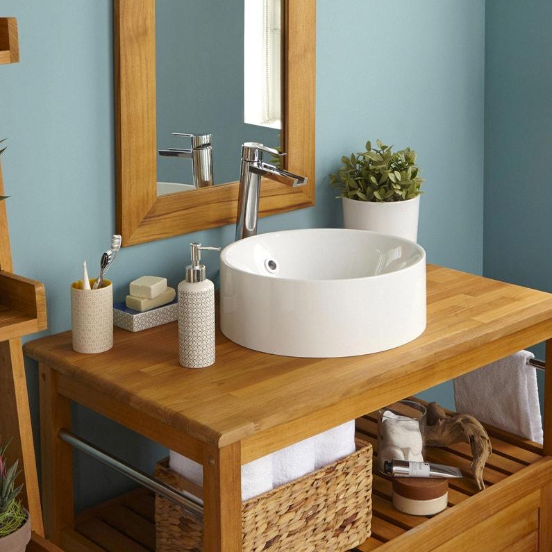 vasque poser r sine de synth se cm blanc sensea capsule leroy merlin. Black Bedroom Furniture Sets. Home Design Ideas