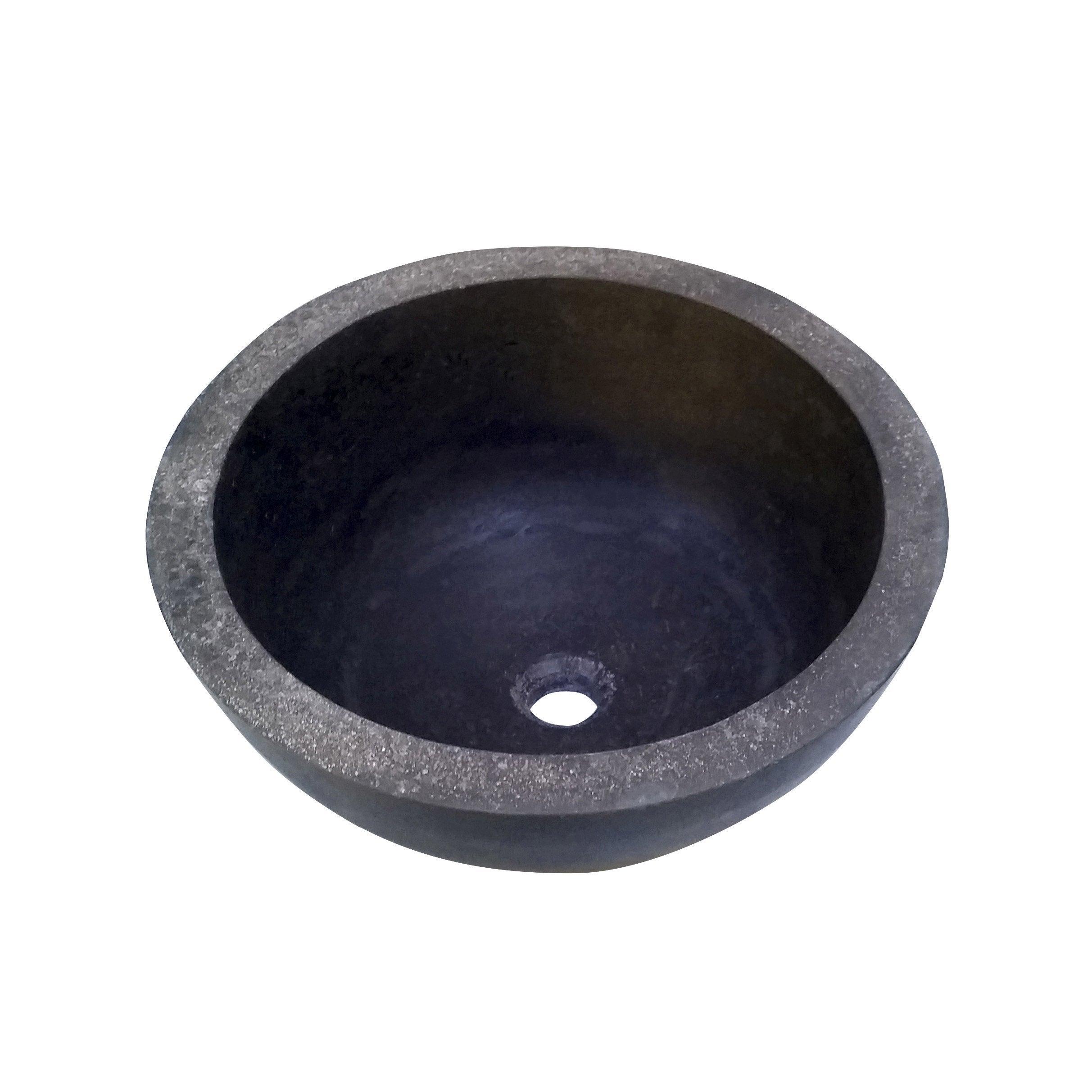 vasque a poser gris Vasque à poser basalte Diam.42 cm gris anthracite Aline