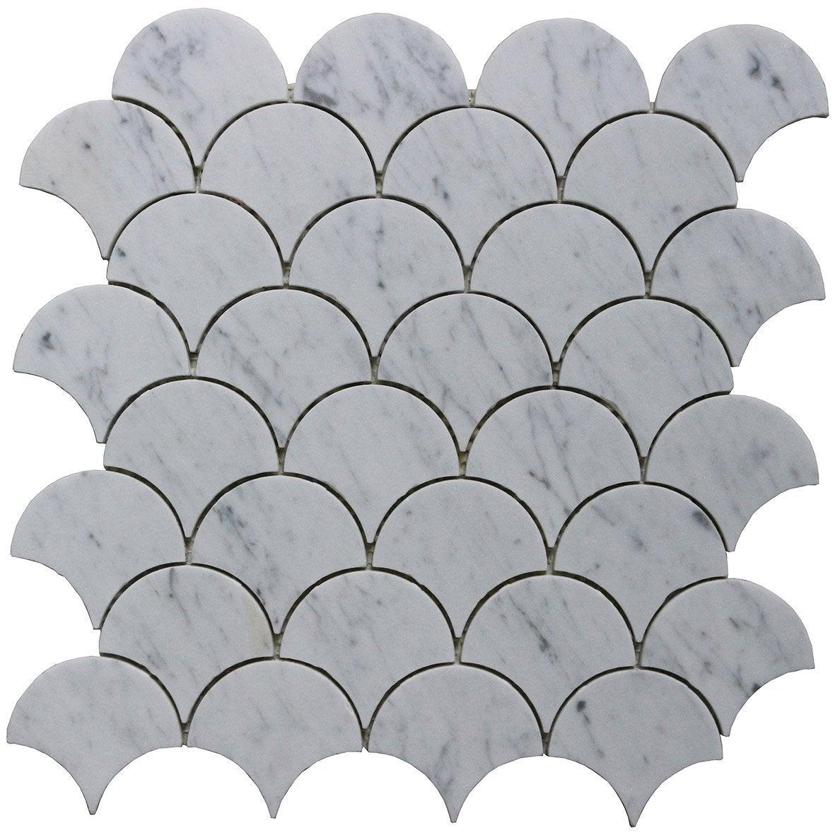 Mosaïque mur Mineral blanc 29.5 x 29.5 cm ARTENS