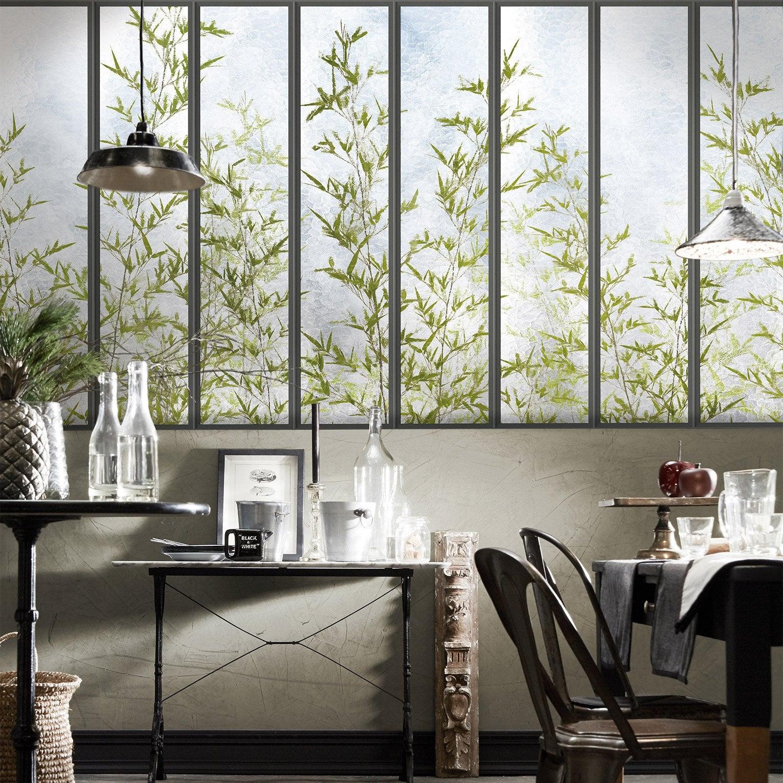 Papier Peint Trompe L Oeil Koziel papier peint panoramique verrière & bambous intissé koziel l.325 x h.140 cm