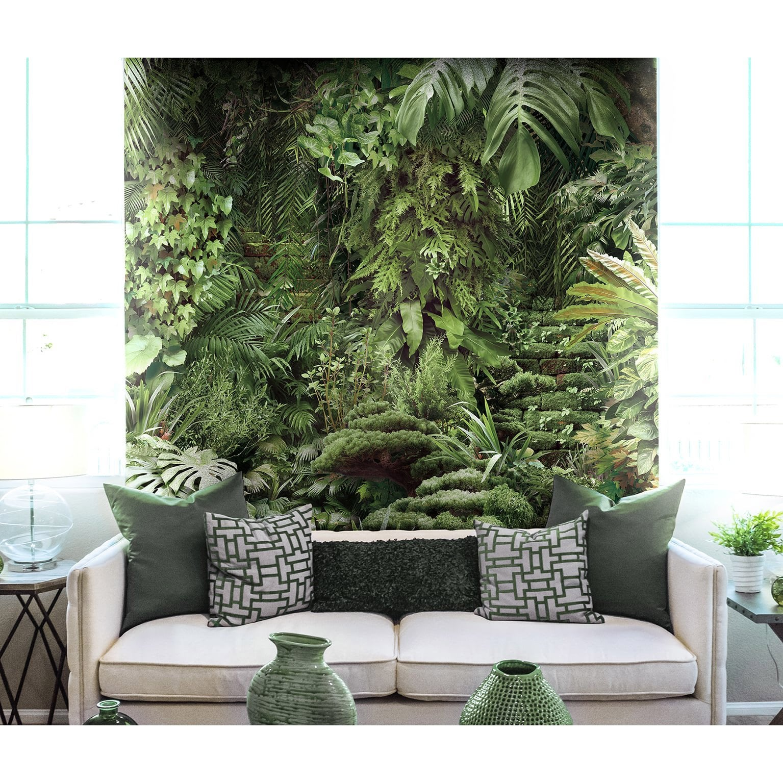 Papier Peint Trompe L Oeil Koziel papier peint panoramique jungle urbaine vert intissé koziel l.260 x h.270 cm