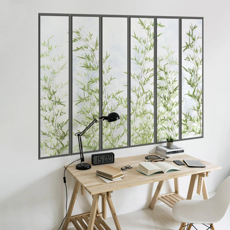 Papier Peint Trompe L Oeil Koziel papier peint panoramique verrière & bambous intissé koziel l.195 x h.140 cm