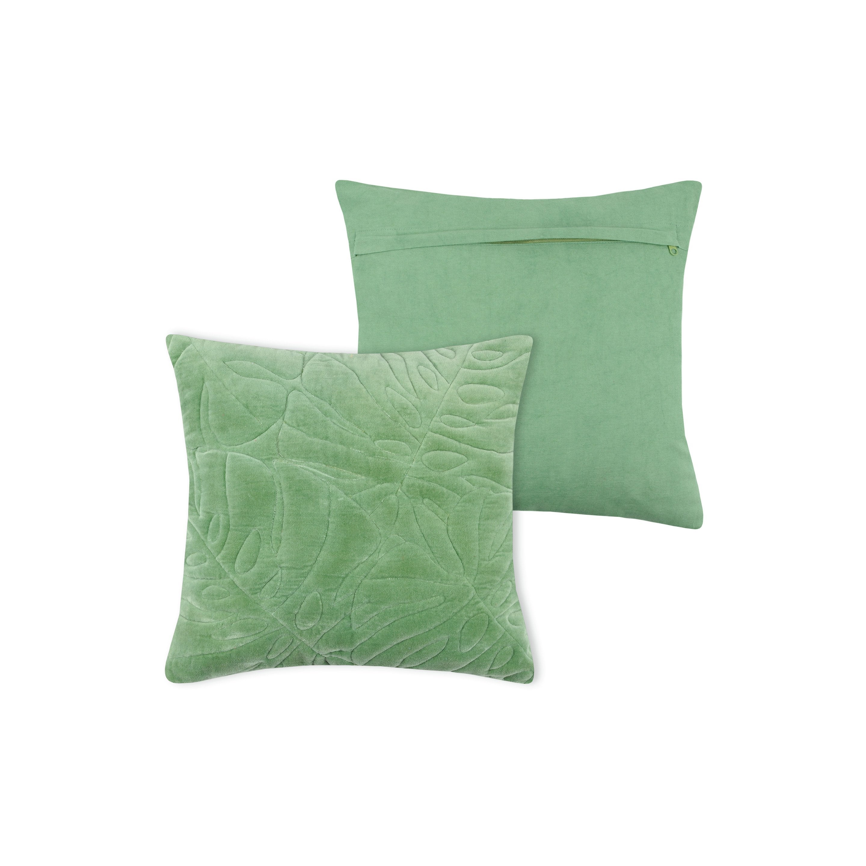 Coussin Tropika, vert l.40 x H.40 cm