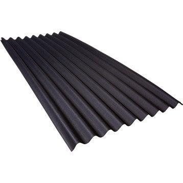 Plaque ondulée bitumée Noir , 0.86 x 2m, ONDULINE