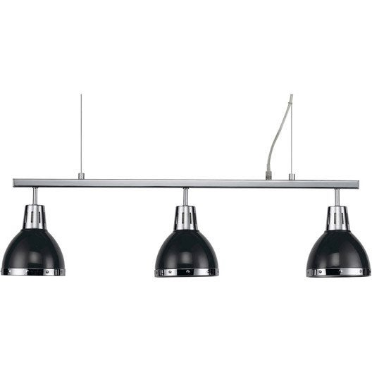 suspension cynthia noir 60 watts diam 14 cm leroy merlin. Black Bedroom Furniture Sets. Home Design Ideas
