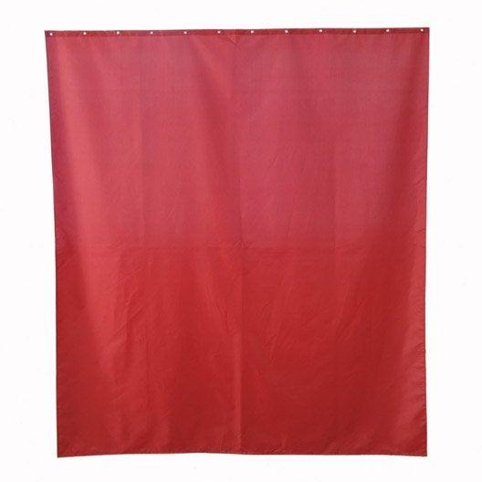 Rideau de douche en tissu happy sensea rouge rouge n 3 - Rideau de douche rouge ...