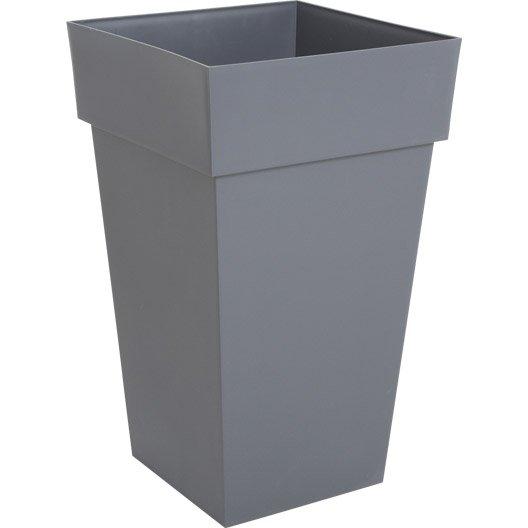 pot r serve d 39 eau en poly thyl ne eda l 39 x l 39 x h 65 cm anthracite. Black Bedroom Furniture Sets. Home Design Ideas
