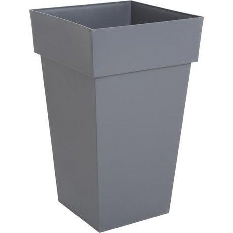 Pot polypropylène EDA  L.39 x l.39 x H.65 cm gris anthracite