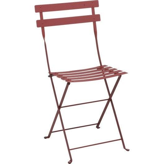 Chaise de jardin en acier bistro piment leroy merlin - Leroy merlin chaise pliante ...