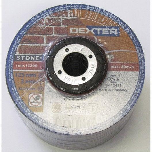 disque à tronçonner pour pierre dexter, diam.125 mm | leroy merlin