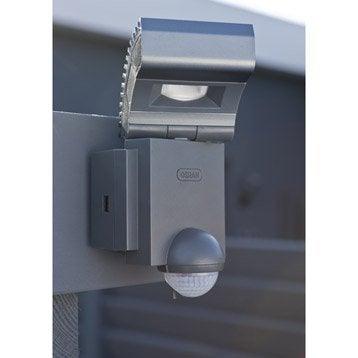 Projecteur à fixer à détection extérieur LED intégrée 8W=430Lm,anthracite