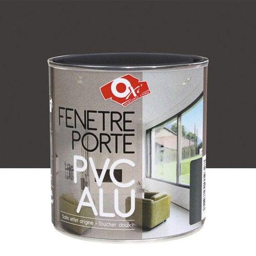 Peinture pvc aluminium int rieur carbone 0 5 l leroy for Peinture pvc exterieur