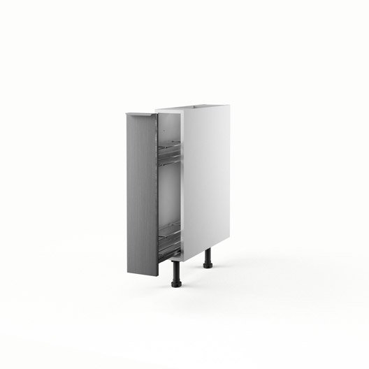 Meuble de cuisine bas d cor aluminium 1 porte stil x for Meuble aluminium cuisine