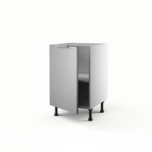 Meuble de cuisine bas d cor aluminium 1 porte stil x for Meuble cuisine 50 x 70