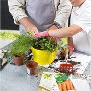 Atelier enfant : créer une composition florale