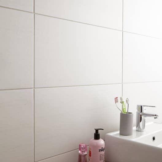 Carrelage sol et mur blanc eiffel x cm - Carrelage sol blanc ...