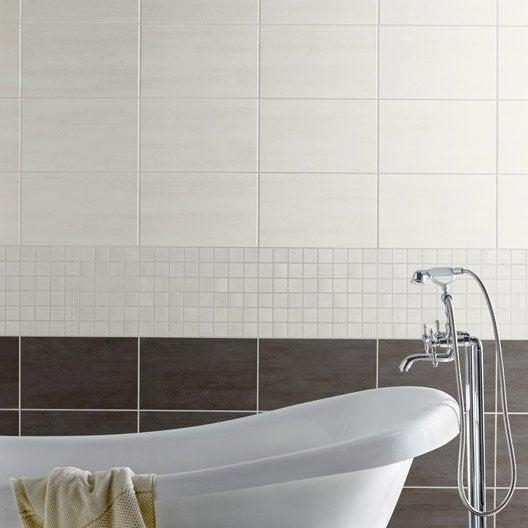 faence mur blanc eiffel l25 x l40 cm - Salle De Bain Faience Blanche