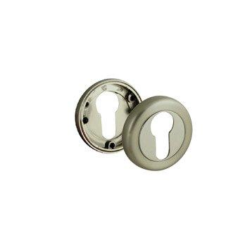 2 rosaces de fonction A9 INSPIRE à trou de cylindre, zamak nickelé