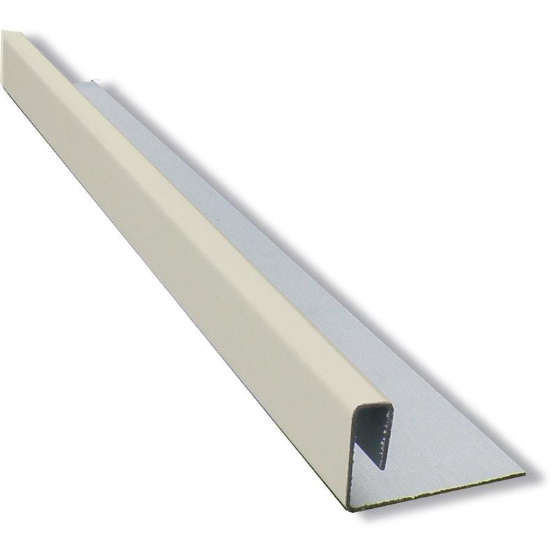 Profil Multifonction Aluminium 2 X 45 Eternit Calliclad Ivoire 3 M