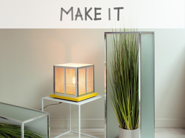 DIY : Transformer des grilles d'aération en lampe à poser