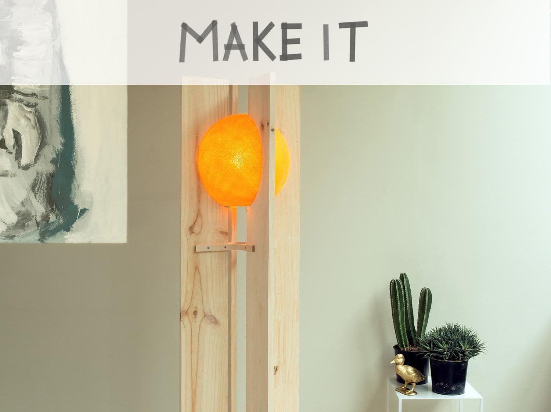 Créer un lampadaire japonisant