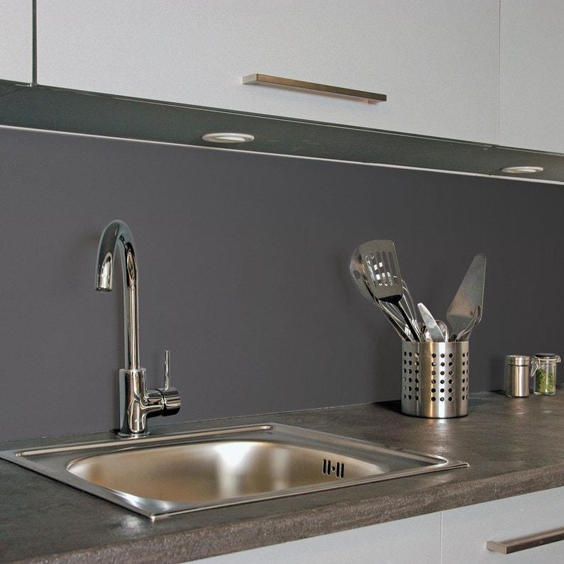 cr dence de cuisine finition mate gris fonc leroy merlin. Black Bedroom Furniture Sets. Home Design Ideas