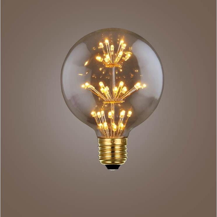 Ampoule Décorative Led Ambré Globe 95mm E27 120lm 30w Blanc Chaud Sampa Helios