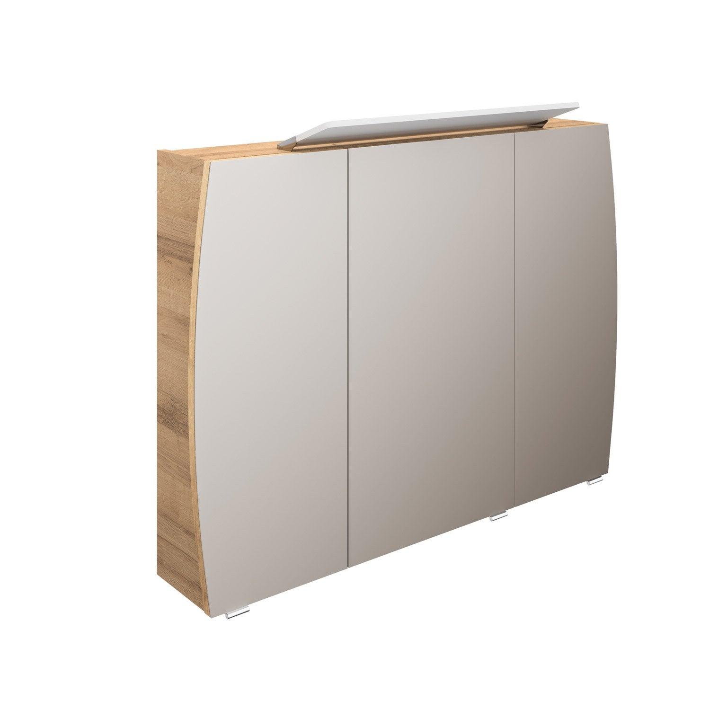 Hauteur Armoire De Toilette armoire de toilette l. 100 cm, imitation chêne naturel image