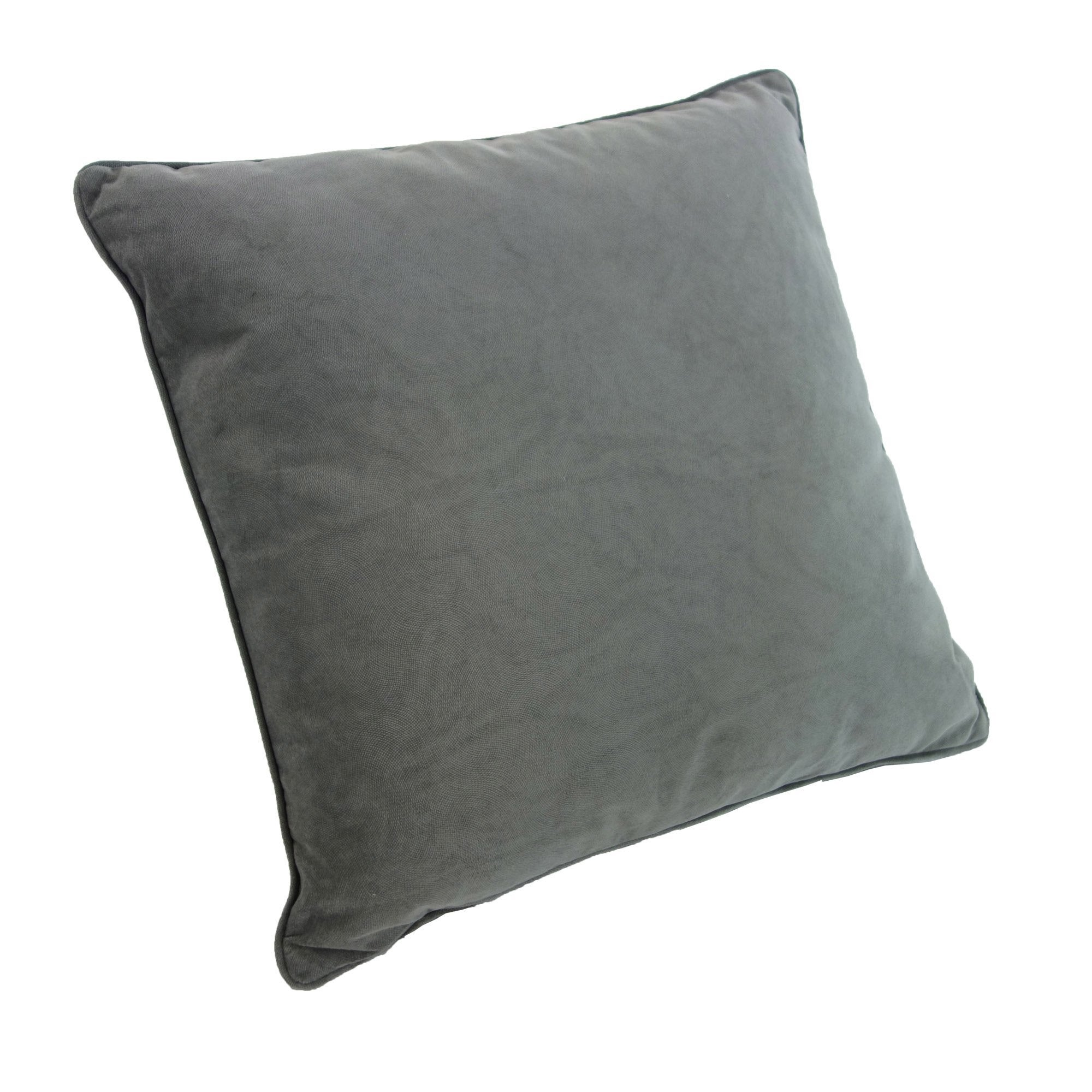 Coussin Cambridge, gris l.45 x H.45 cm