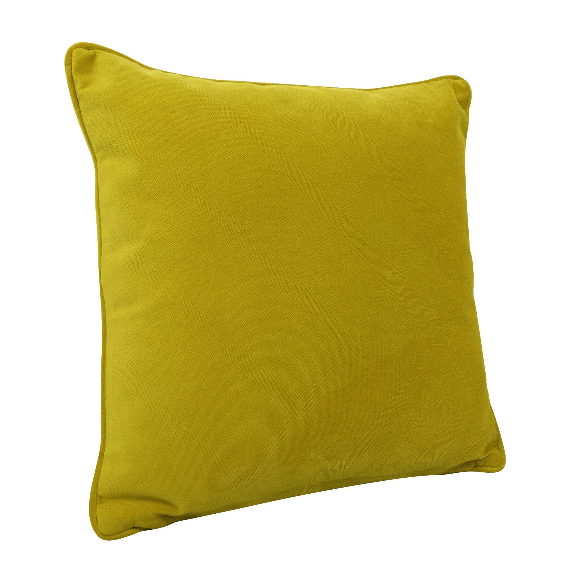 Coussin Cambridge, jaune l.45 x H.45 cm