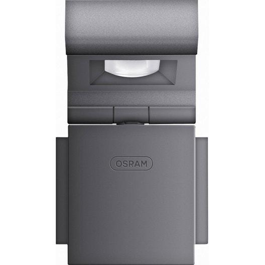 projecteur fixer ext rieur noxlite led integrada 8 w 430 lm anthracite osra leroy merlin. Black Bedroom Furniture Sets. Home Design Ideas