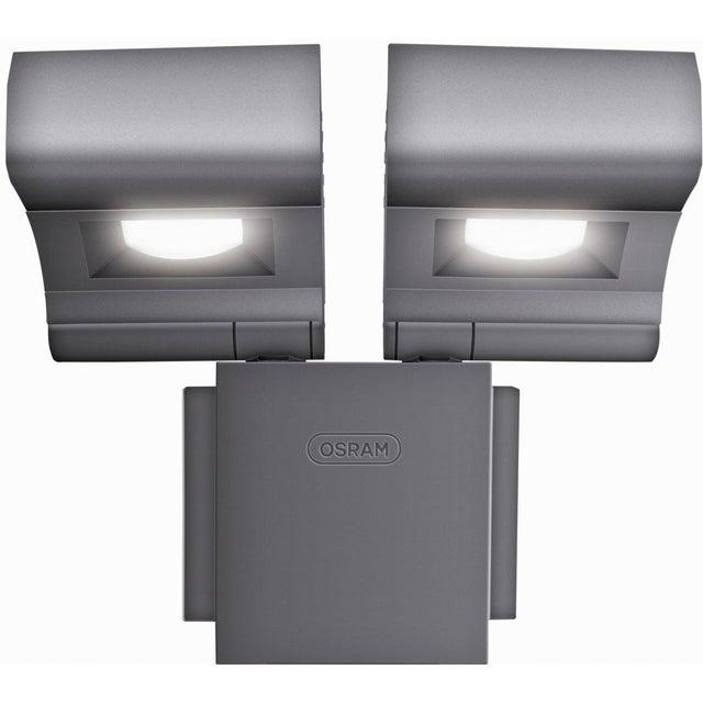 Projecteur à fixer extérieur Noxlite LED intégrée 2x8 W = 860 Lm, gris OSRAM