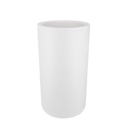 pot en plastique elho diam 39 5 x haut coloris blanc leroy merlin. Black Bedroom Furniture Sets. Home Design Ideas
