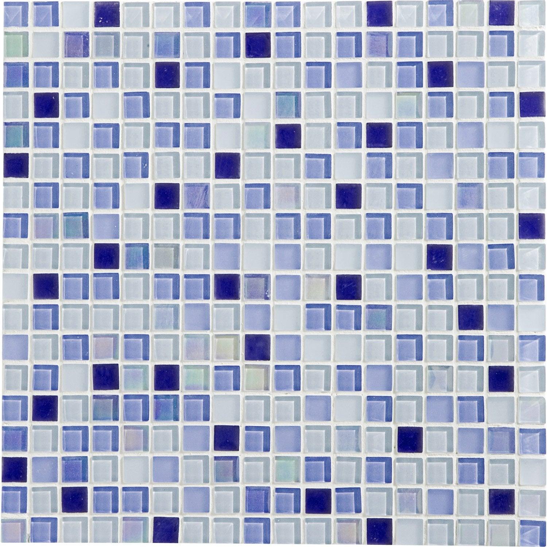 Mosa Que Sol Et Mur Glossy Bleu 1 X 1 Cm Leroy Merlin
