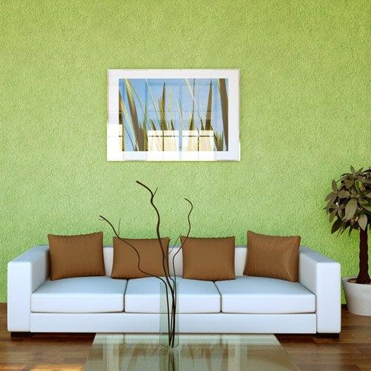 Papier peint papier Crépi vert