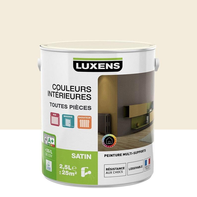 Peinture Blanc Lin 3 Satin Luxens Couleurs Intérieures Satin 25 L