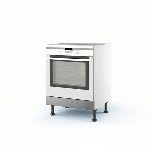 Meuble de cuisine bas d cor aluminium four stil x l for Meuble aluminium cuisine