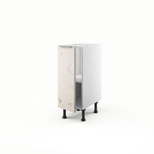 Meuble de cuisine bas d cor b ton 1 porte loft x for Caisson cuisine 30 x 70