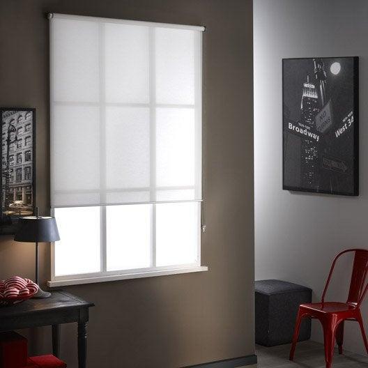 Store enrouleur tamisant mesh blanc 84 x 250 cm leroy merlin - Store veranda leroy merlin ...