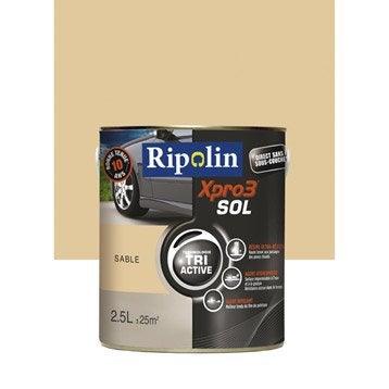 Peinture sol extérieur / intérieur Xpro 3 RIPOLIN, sable, 2.5L
