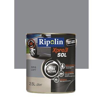 Peinture sol extérieur / intérieur Xpro 3 RIPOLIN, gris loft, 2.5L