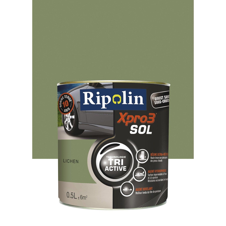 peinture sol ext rieur int rieur xpro 3 ripolin vert lichen 0 5 l leroy merlin. Black Bedroom Furniture Sets. Home Design Ideas